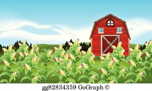 Cornfield clipart banner royalty free library Corn Field Clip Art - Royalty Free - GoGraph banner royalty free library