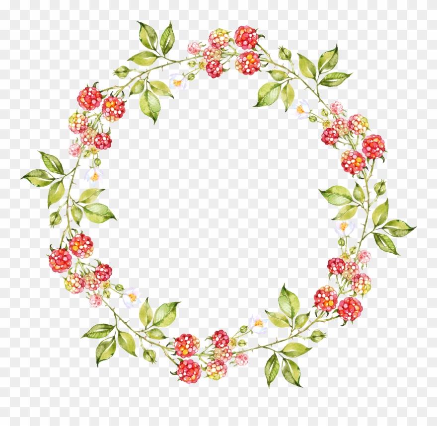 Corona de rosas clipart graphic download Oval Clipart Floral Wreath - Coronas De Flores Dibujos - Png ... graphic download