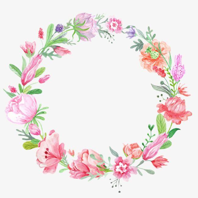 Flores clipart gratis vector stock Color Flower Wreath, Flower Clipart, Wreath, Flowers PNG Transparent ... vector stock