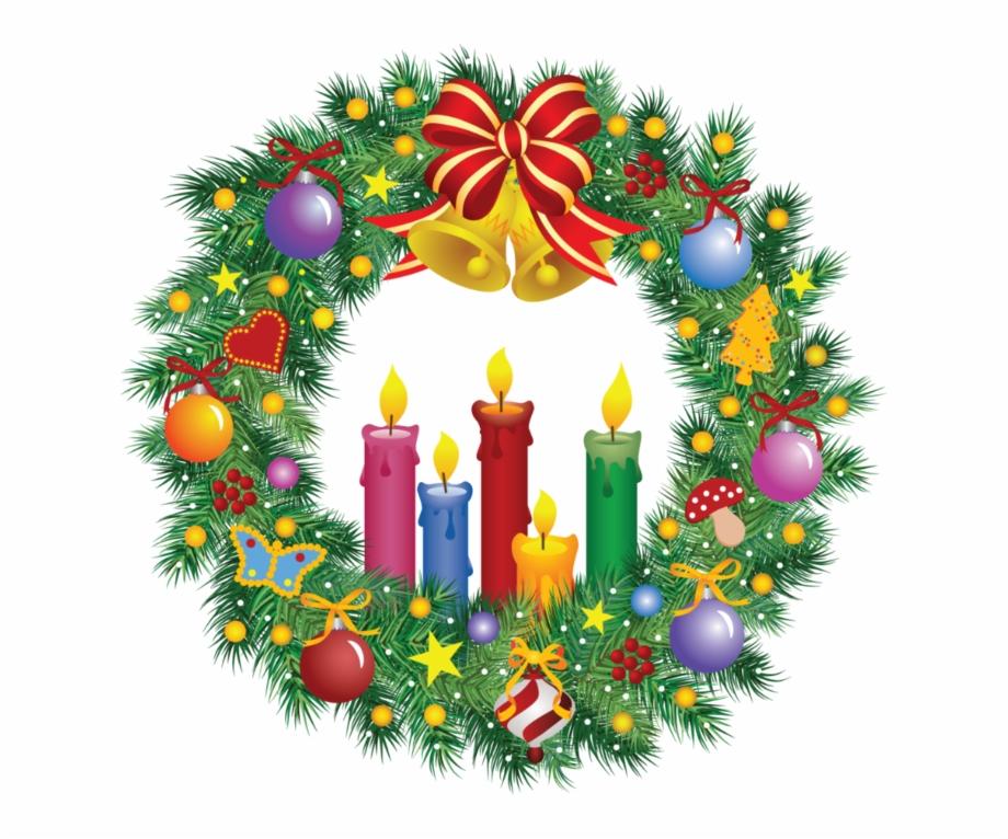 Corona navide+-a clipart svg black and white library Christmas Wreath Clipart Mis Laminas Para Decoupage - Corona De ... svg black and white library