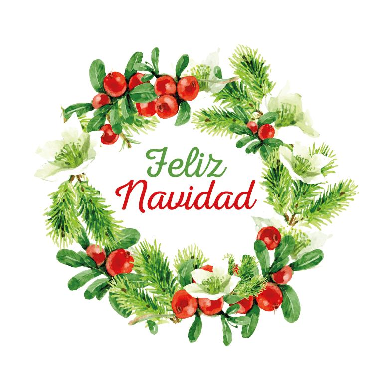 Corona navide+-a clipart royalty free stock Corona Feliz Navidad - Cartel en Vinilo (copia) | Navidad | Navidad ... royalty free stock