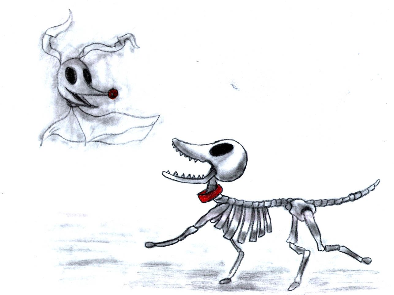 Corpse bride dog clipart image freeuse library Image result for zero skellington tattoo | Beautifully Created ... image freeuse library