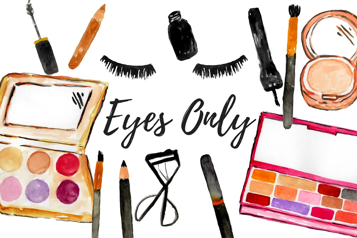 Make up clipart clip art transparent library Watercolor Eye Makeup Clipart clip art transparent library