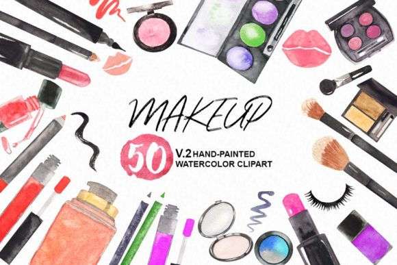 Cosmetic clipart graphic transparent stock Watercolor Makeup Cosmetic Clipart graphic transparent stock