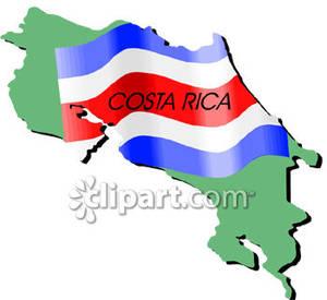 Costa rica clipart graphic freeuse download Costa Rica and Costa Rican Flag - Royalty Free Clipart Picture graphic freeuse download