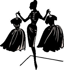 Clipartfest fashion silhouette . Costume designer logo black and white clipart