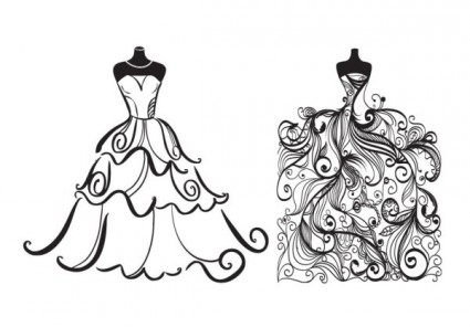 Costume designer logo black and white clipart. Free vectors backgrounds more