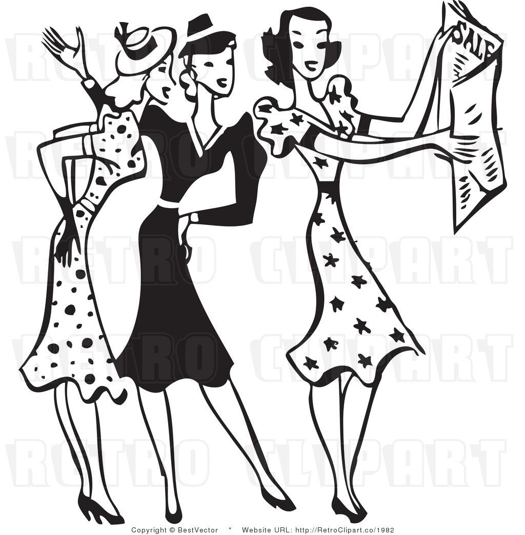 Costume designer logo black and white clipart. Clip art women outfits