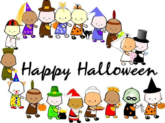 Costume parade clipart png black and white Halloween costume parade clipart clipartxtras – Gclipart.com png black and white