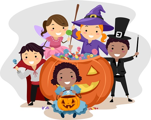 Costume parade clipart clip royalty free Halloween parade clip royalty free