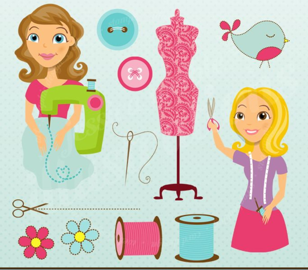 Costura clipart clip art freeuse download Kit Digital Meninas Atelier Costura Costureira Clipart JW158 clip art freeuse download