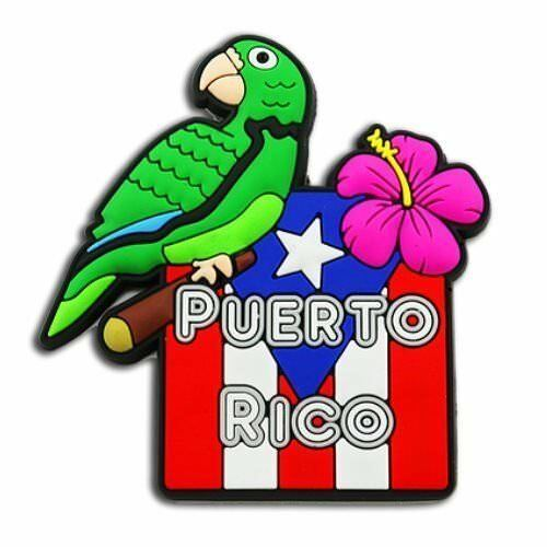 Cotorra clipart picture royalty free library Details about Puerto Rico Flag & Cotorra Magnet Refrigerator Souvenirs  Rican Magneto picture royalty free library
