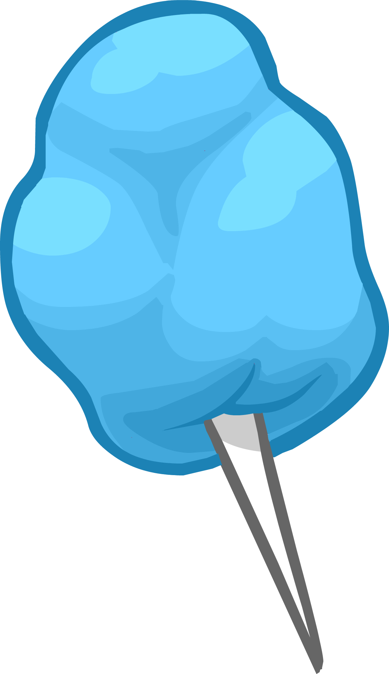 Cotton candy clipart free clip library download Blue Cotton Candy Clipart transparent PNG - StickPNG clip library download