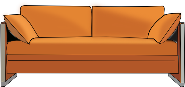 Couch pictures clipart clipart black and white stock Sofa Clipart Cartoon Pencil And In Color Sofa Clipart, Cartoon Couch ... clipart black and white stock