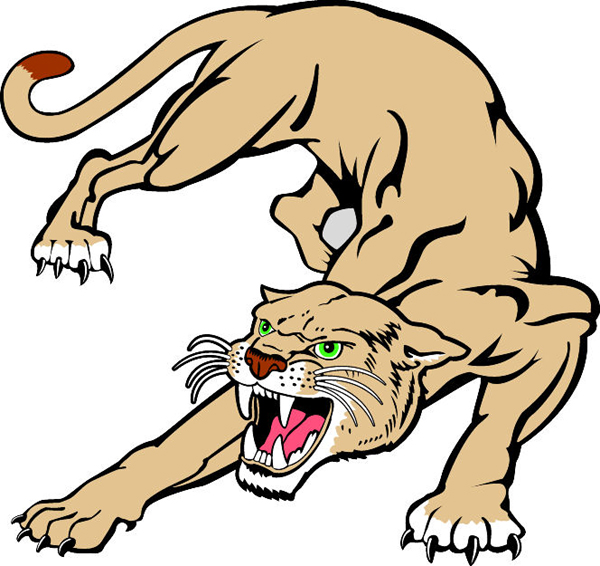 Cougar cartoon black and white body clipart easy graphic Cougar Mascot Clipart | Free download best Cougar Mascot Clipart on ... graphic
