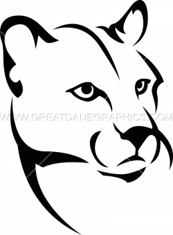 Cougar cartoon black and white body clipart easy svg image transparent stock Cougar clipart caloosa. collection of head ... svg