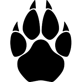 Cougar paw print clipart clip art royalty free Cougar Paw Print Silhouette | Tattoos | Lion silhouette, Silhouette ... clip art royalty free