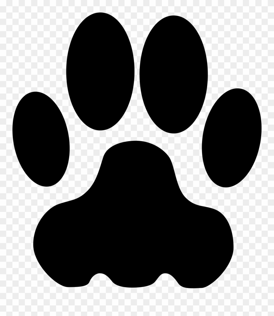 Cougar paw print clipart png download Cougar Mascot Clipart Free Clipart Image Image - Bobcat Paw Print ... png download