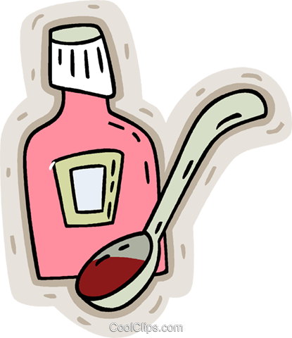Cough syrup clipart jpg library library cough medicine Royalty Free Vector Clip Art illustration -vc008629 ... jpg library library