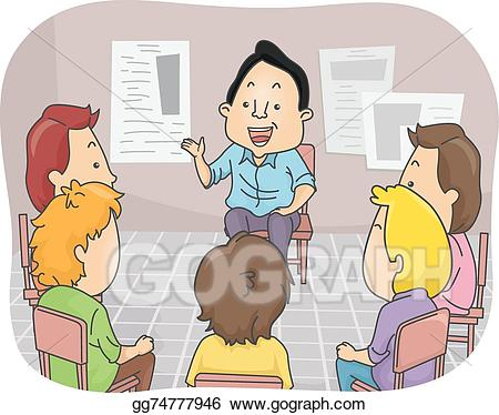 Counselormeeting clipart graphic transparent library Vector Illustration - Male counseling. EPS Clipart gg74777946 - GoGraph graphic transparent library