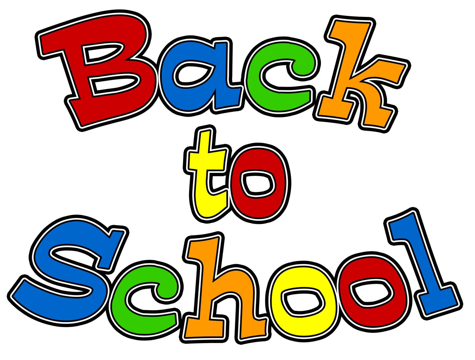 Clipartfest colorful . Countdown back to school clipart