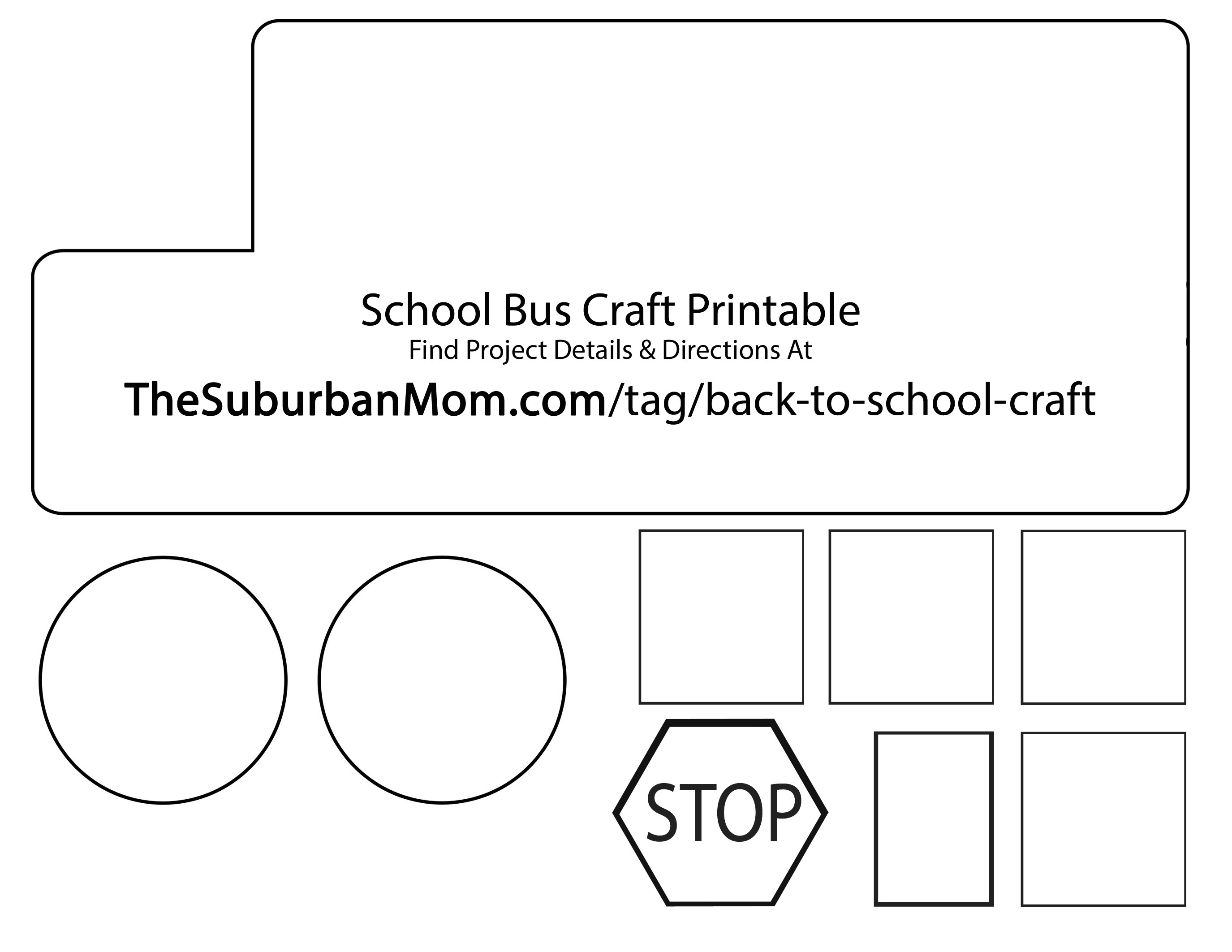 Countdown back to school clipart jpg free School Bus Template. school bus templates for kids back to school ... jpg free