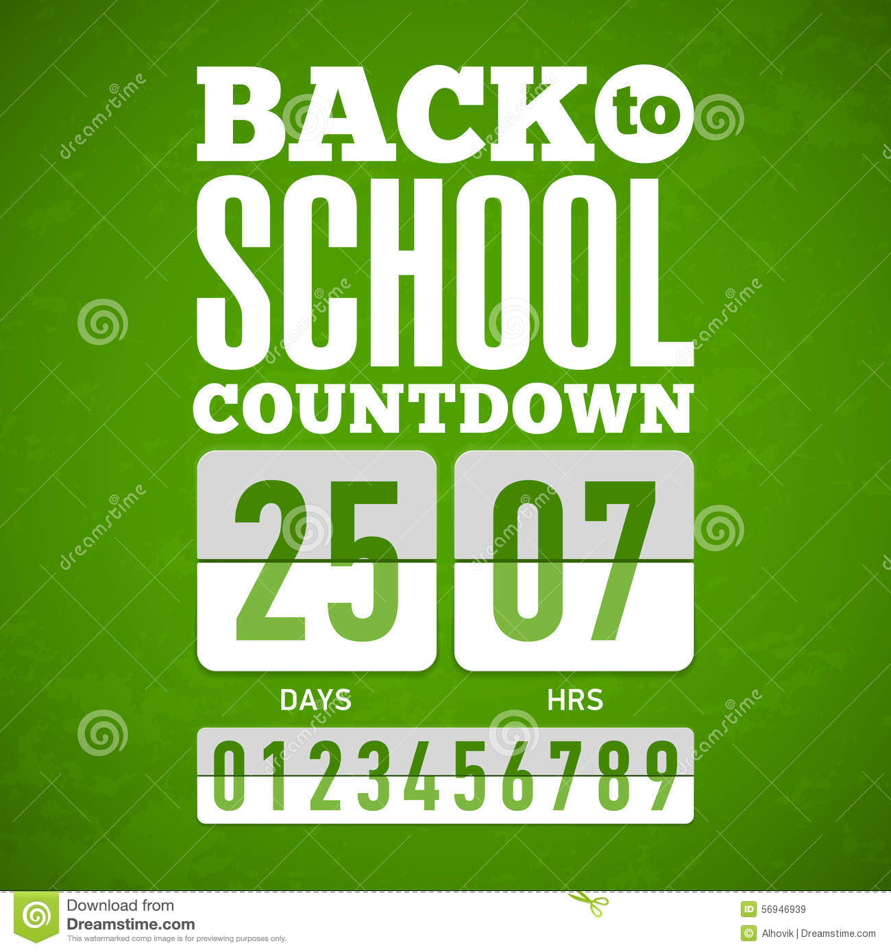 Countdown back to school clipart image black and white Back To School Countdown Stock Vector - Image: 56946939 image black and white