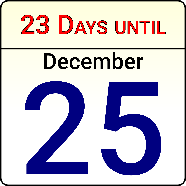Countdown calendar clipart clipart freeuse stock Christmas Countdown Calendar vector clipart - Free Public Domain ... clipart freeuse stock
