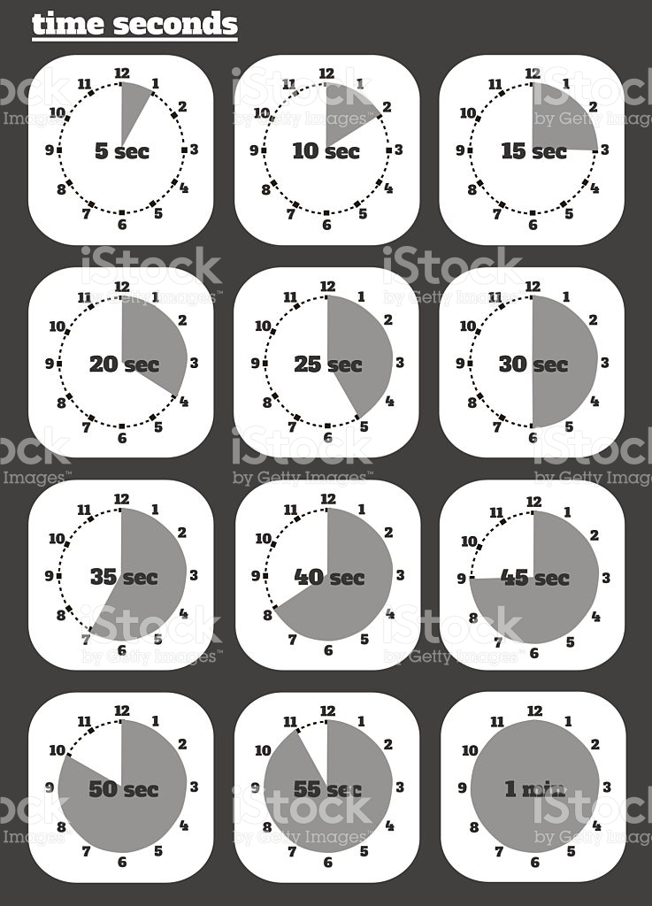 Countdown clipart with number 15 clipart freeuse stock Black Clocks Icon stock vector art 472370113 | iStock clipart freeuse stock