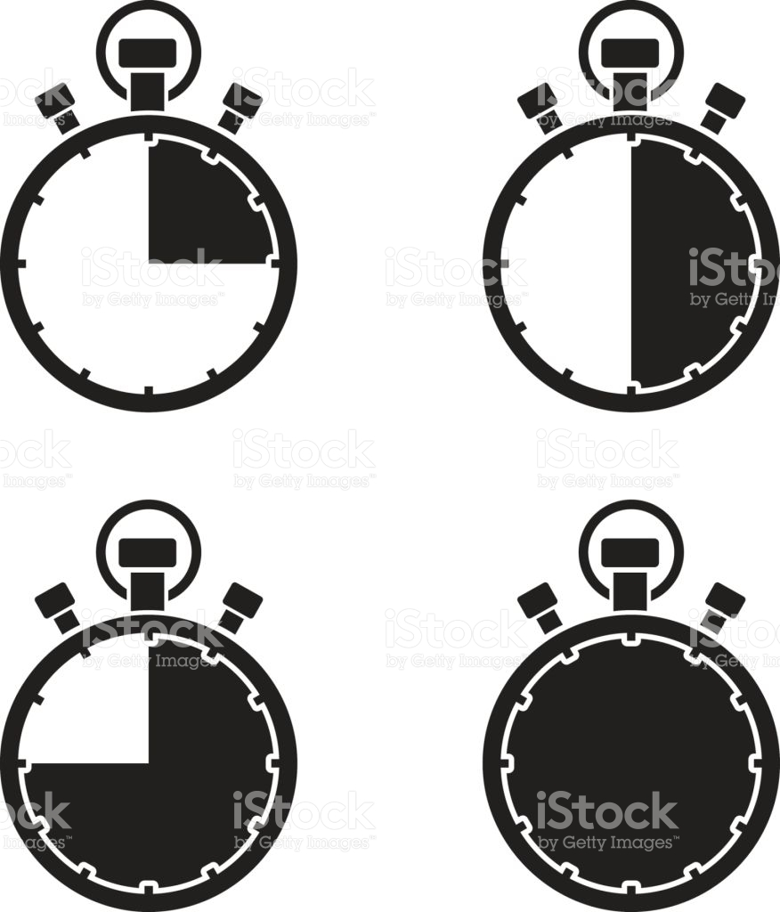 Countdown clipart with number 15 svg freeuse stock Stopwatch Timer Set stock vector art 651973674 | iStock svg freeuse stock