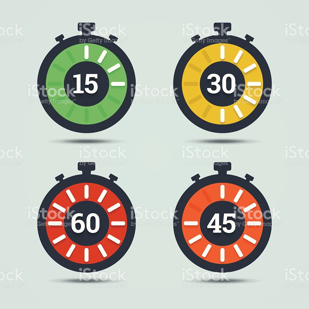 Countdown clipart with number 15 picture library download Timer Icons With Color Gradation And Numbers stock vector art ... picture library download