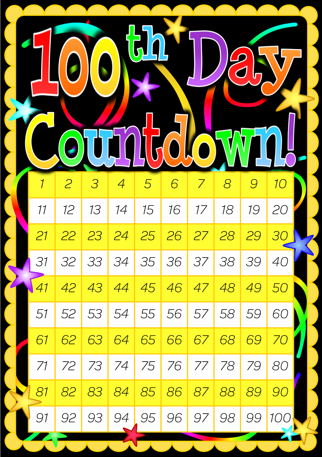 Countdown clipart with number 15 svg royalty free download Counting To 100 Clipart - Clipart Kid svg royalty free download