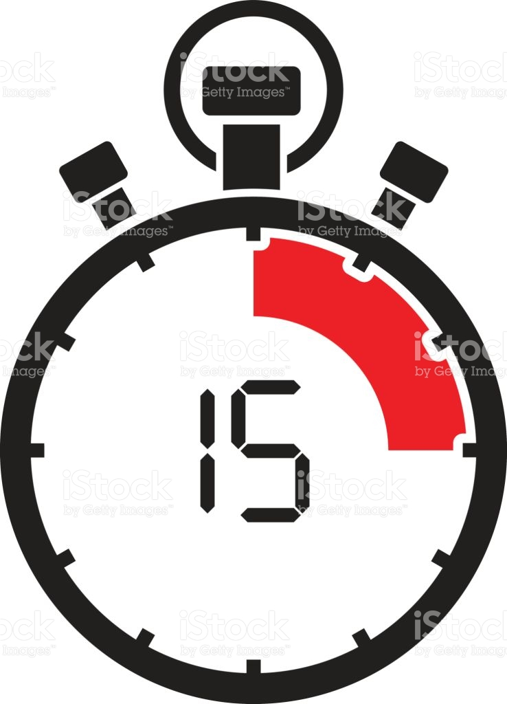 Countdown clipart with number 15 jpg freeuse download Fifth Teen Minute Stop Watch Countdown stock vector art 651971314 ... jpg freeuse download