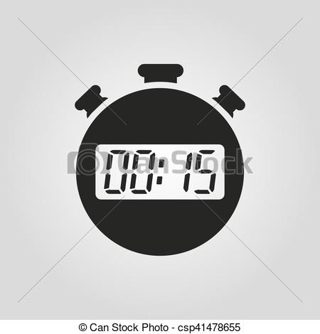 Countdown clipart with number 15 png download Clipart Vector of The 15 seconds, minutes stopwatch icon. Clock ... png download