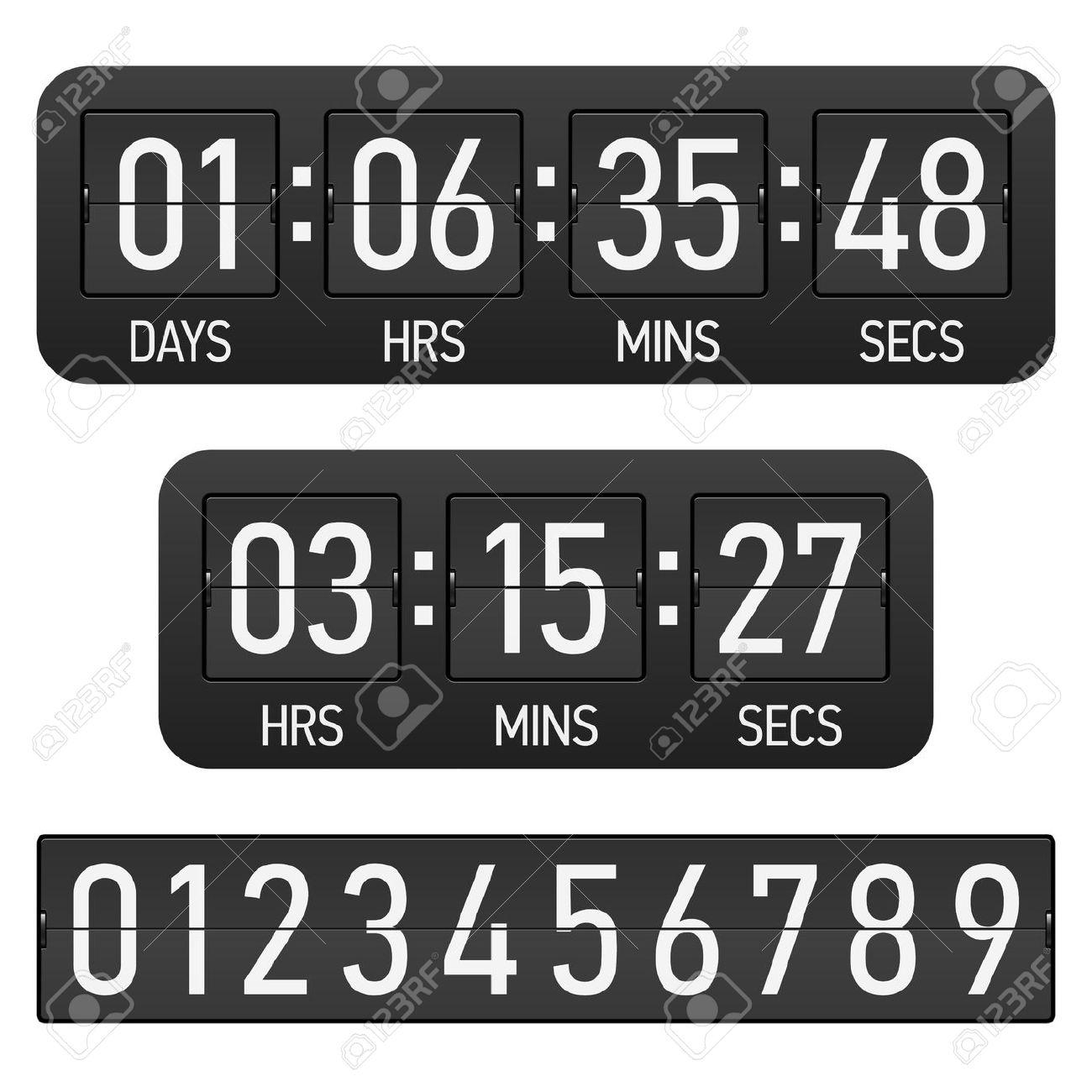 Digital timer clip art. Countdown clock clipart