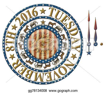 Countdown clock clipart vector free stock Drawing - 2016 election countdown clock. Clipart Drawing ... vector free stock