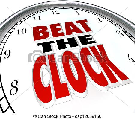 Countdown clock clipart black and white stock Clipart of Racing Against Deadline Clock Time Countdown - A ... black and white stock