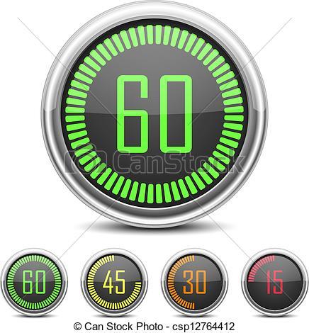 Countdown clock clipart. Timer kid vector digital