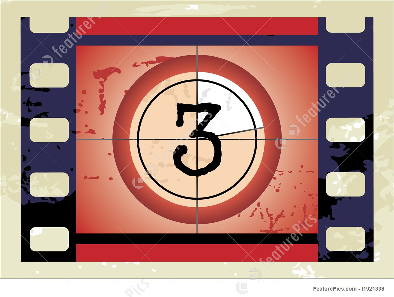 Countdown letter 1 clipart banner royalty free Letters And Numbers: Film Countdown (Vector) - Stock Illustration ... banner royalty free