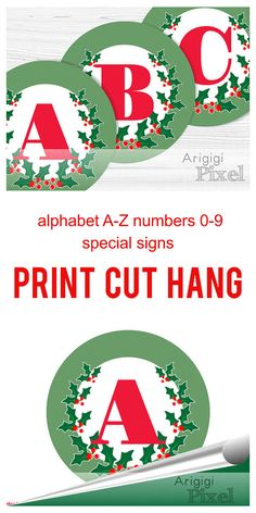 Countdown letter 1 clipart png free library Printable Advent Calendar, Countdown Christmas, Number 1-25 and ... png free library