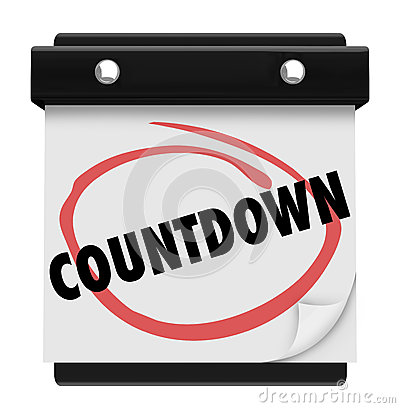 Countdown letter 1 clipart