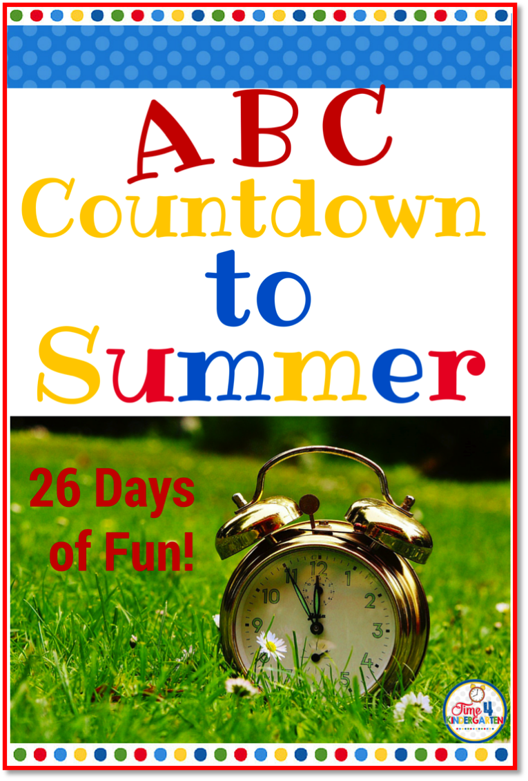 Countdown letter 1 clipart picture black and white library Time 4 Kindergarten: ABC Countdown to Summer picture black and white library