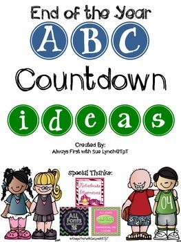 Countdown letter 1 clipart clip art transparent library End of the Year ABC Countdown IDEAS~Freebie! by Always First with ... clip art transparent library