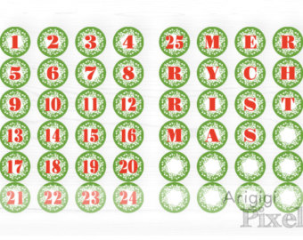 Countdown letter 1 clipart png download Advent Calendar Beige Countdown Christmas by ArigigiPixel on Etsy png download