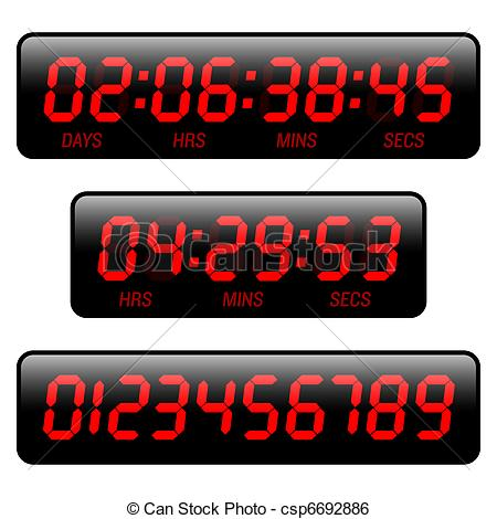 Countdown timer clipart. Illustrations and clip art