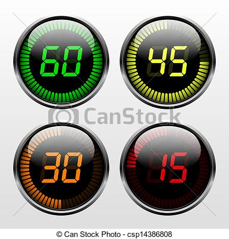 Illustrations and clip art. Countdown timer clipart