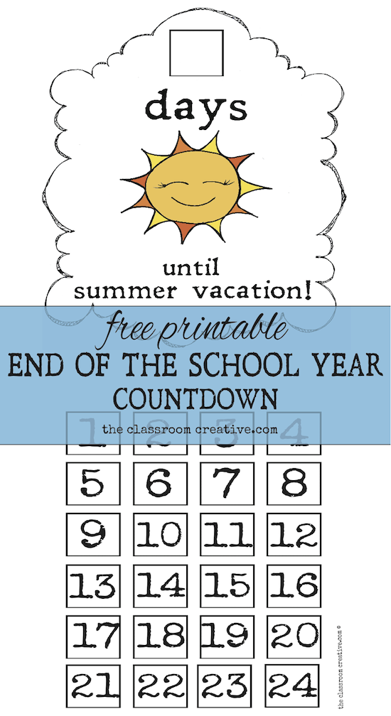 Countdown to school clipart image freeuse library End of the School Year Countdown Ideas image freeuse library