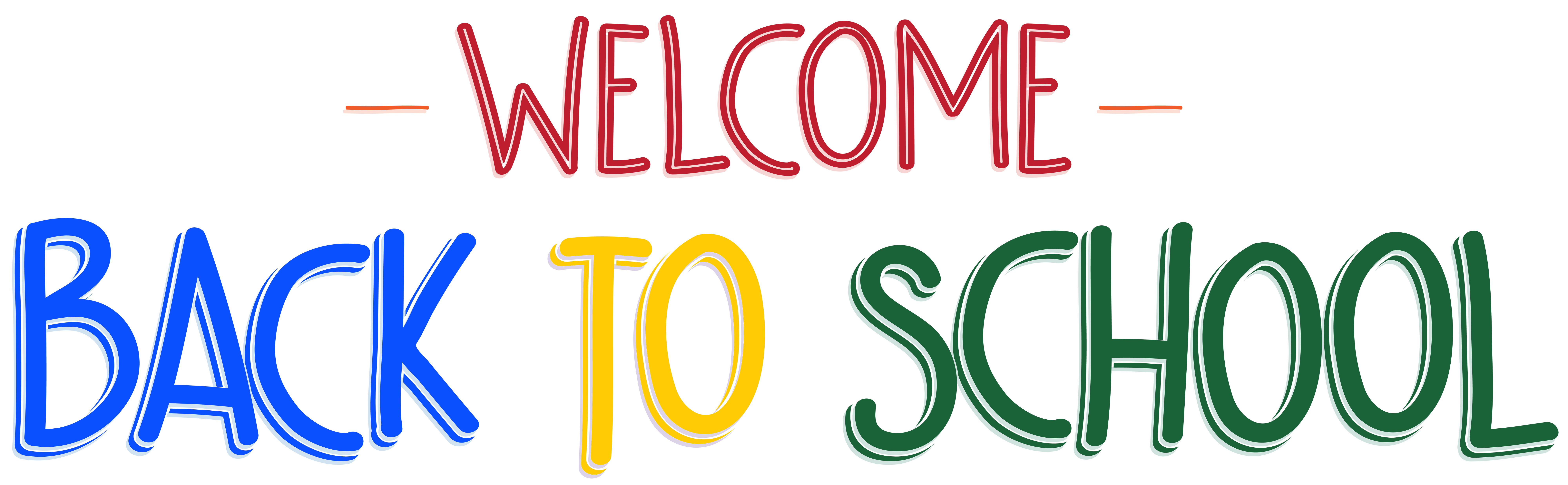 Welcome back to school clipart black and white banner library Welcome Back to School PNG Clip Art Image | Gallery Yopriceville ... banner library