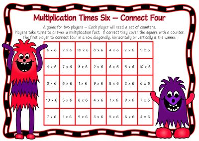 Counters clipart connect 4 graphic free download Times Six Connect Four - Halloween Classroom Treasures: Numeracy ... graphic free download