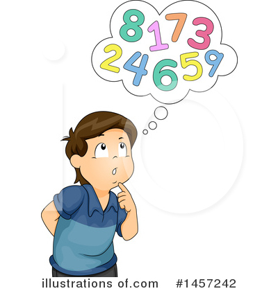 Kid counting clipart